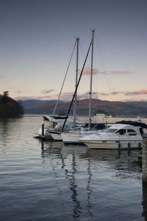 Cumbria, England; Boats in harbour Stock Photo - 7206670