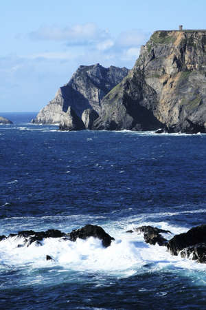 Glen Head, Glencolumbkille, Co Donegal, Ireland; View of Cliffs and ocean Stock Photo - 7209073