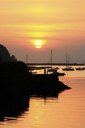 co cork: Bantry Bay, Bantry, Co Cork, Ireland; Sunset over harbour
