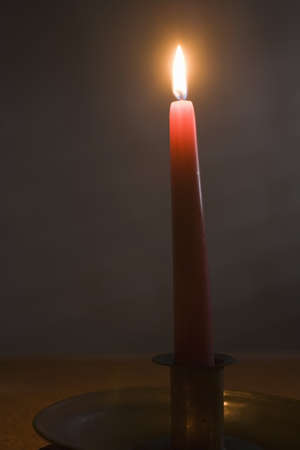 Candle and flame   Stock Photo - 7193716