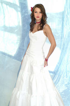 formal dress: Woman in a wedding dress