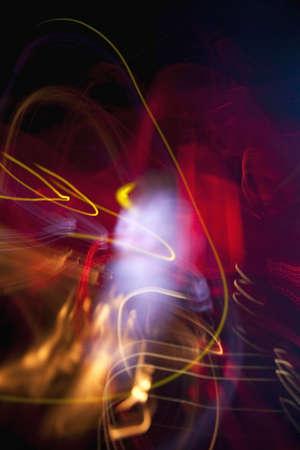 lineas onduladas: L�neas onduladas y luz de colores Foto de archivo