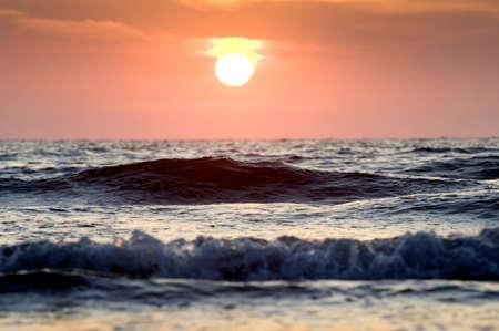 levit: Ocean wave at sunset, Puerto Vallarta, Mexico