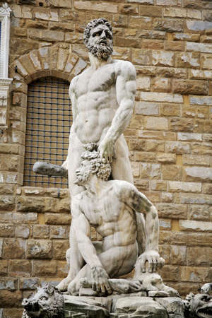 cahill: Florence, Italy; statue of Hercules and Caucus Stock Photo