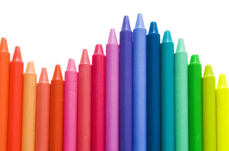 Rainbow pattern of wax sticks