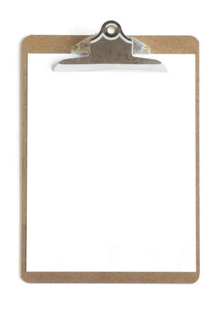 knorr: Blank paper on a clipboard