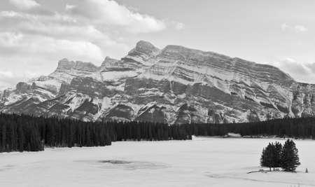 Winter scene; Banff, Alberta, Canada photo