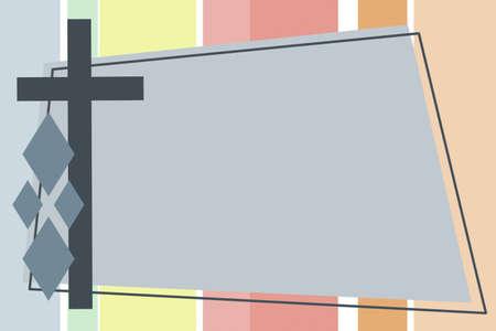 ins: Cross backgound frame Stock Photo