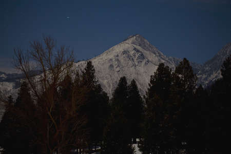 Mountain at night Stock Photo - 7189911