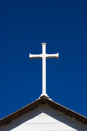 Cross on steeple of church Stock Photo - 7189698