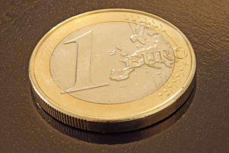 One euro coin Banco de Imagens