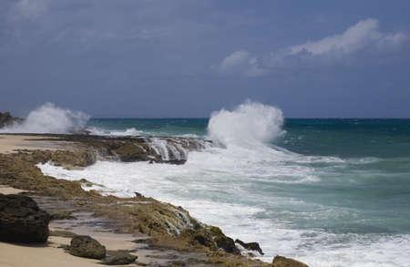lake fronts: Shoreline and waves; Varadero, Cuba