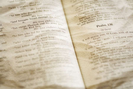 the scriptures: Close-up of open bible