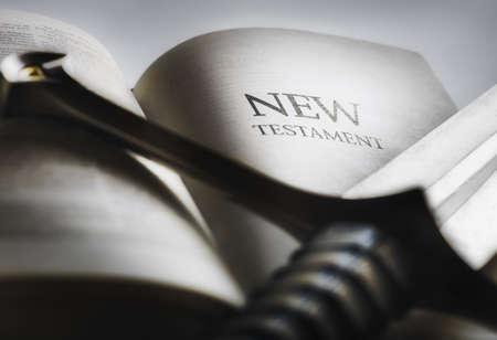 creador: La espada del esp�ritu, la Biblia  Foto de archivo