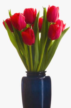 Tulpen in een vaas Stockfoto