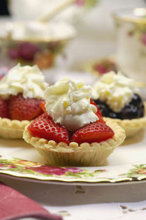 ron: Strawberry tarts Stock Photo