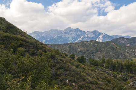 the mountain range: The San Gabriel Mountains; Los Angeles, California, USA Stock Photo