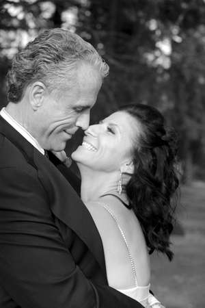 colleen: Bride and groom hugging