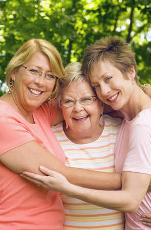Mother and two daughters photo