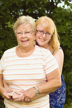 caucasian ancestry: Grandmother and granddaughter