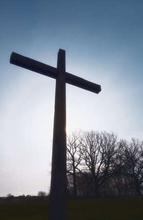 Silhouette of the cross Stock Photo - 7189930