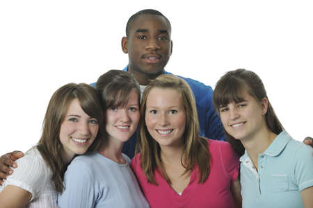 Interracial group of young adults Stock Photo - 7191030