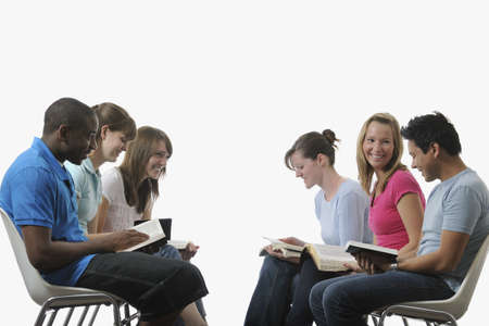 caucasian ancestry: A diverse group of young adult Christians Stock Photo