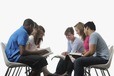 group study: A diverse group of young adult Christians Stock Photo