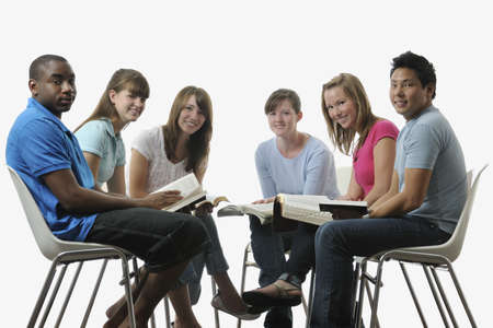 A diverse group of young adult Christians photo