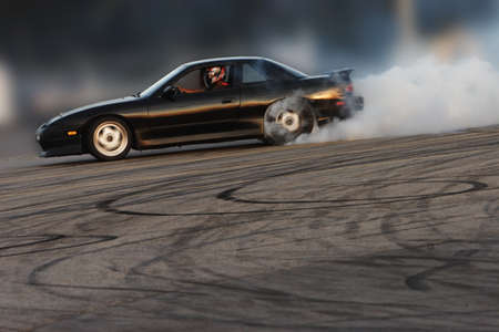 Burning rubber photo