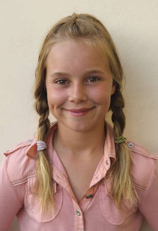 caucasian ancestry: Portrait of a girl with braids