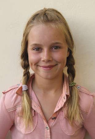 braids: Portrait of a girl with braids