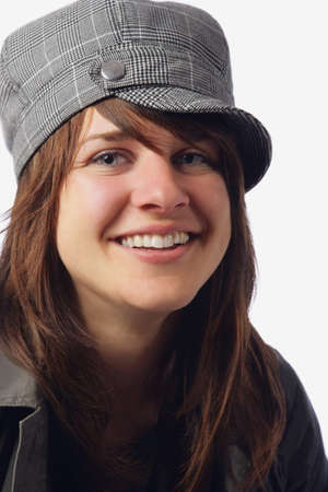 caucasian ancestry: Woman in a hat Stock Photo