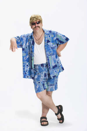 caucasian ancestry: Man dressed in 1970s clothes