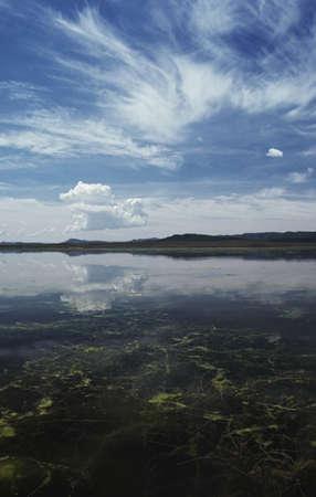 lake fronts: Shallow freshwater lake Stock Photo