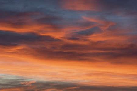 chinook: Nuvole colorate chinook al tramonto, Calgary, Alberta, Canada