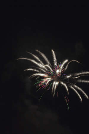 pyrotechnic displays: Fireworks, Crowsnest Pass, Alberta, Canada Stock Photo