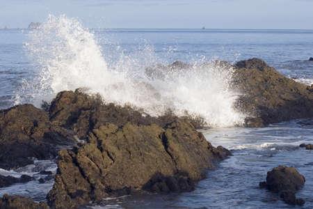 crashing waves, republic of costa rica