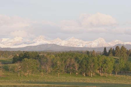 Mountains near Calgary, Alberta, Canada Stock Photo - 7190496