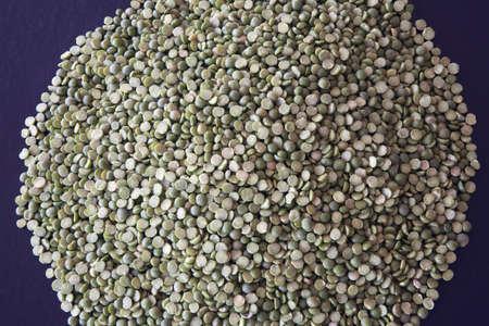 calgary, alberta, canada; pile of green lentils