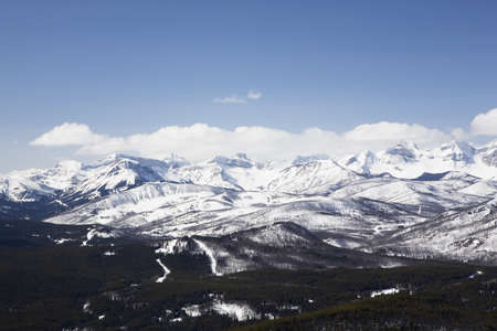 front range: alberta, canada; view of front range mountains and foothills from carbondale hill Stock Photo