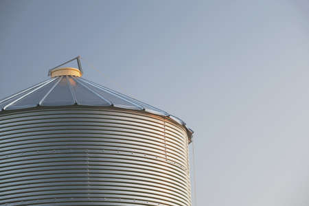 alberta, canada; metal grain bin photo