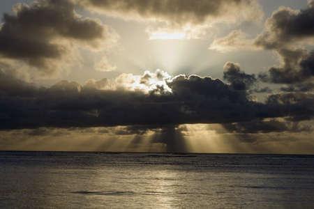 pacific ocean, north kauai, hawaii, usa photo