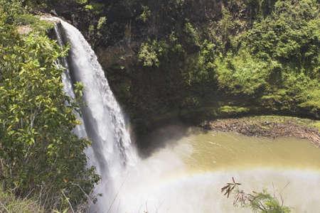 lake fronts: wailua falls, kauai, hawaii, usa