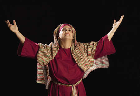venues: woman dressed as mary, mother of jesus