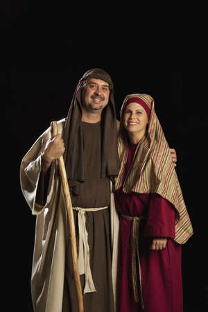 people dressed as mary and joseph Stock Photo - 7190239