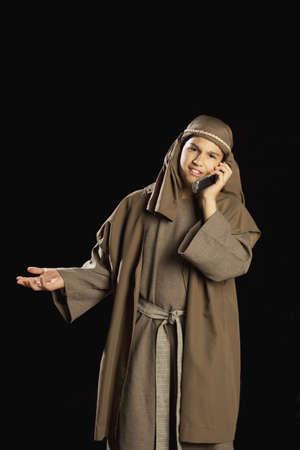 jesus using a cellphone photo