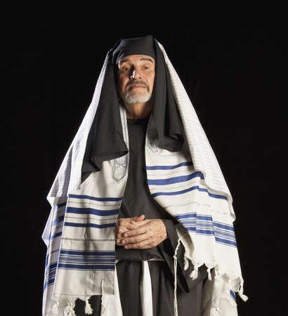 dramatic characters: man depicting a bible character Stock Photo