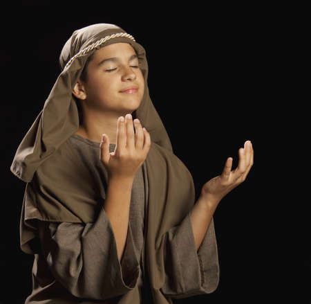 boy portraying a young jesus Stock Photo - 7190037