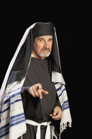 high priest: man depicting a bible character Stock Photo